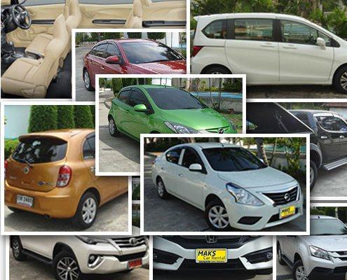 在泰国芭提雅可以低价租到的轿车