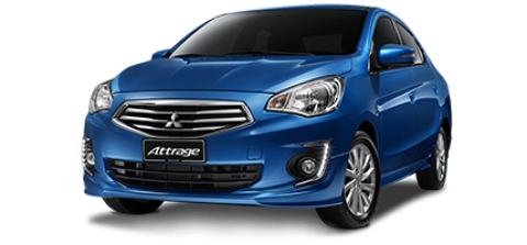 Car hire Mitsubishi Attrage In Pattaya