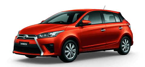 Car hire Toyota Yaris In Pattaya