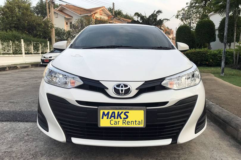 Toyota Yaris Ativ rental Thailand
